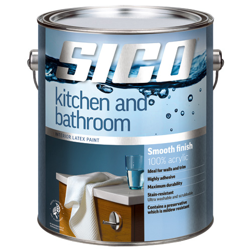 Paint for Kitchen and Bathroom - Base 1 - Smooth - 3.78 L