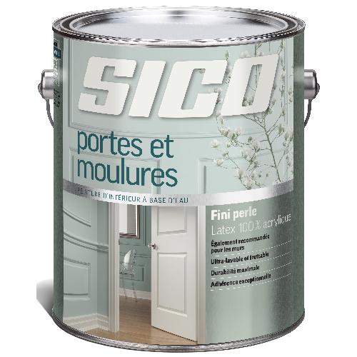 Peinture latex d'intérieur pour portes et moulures