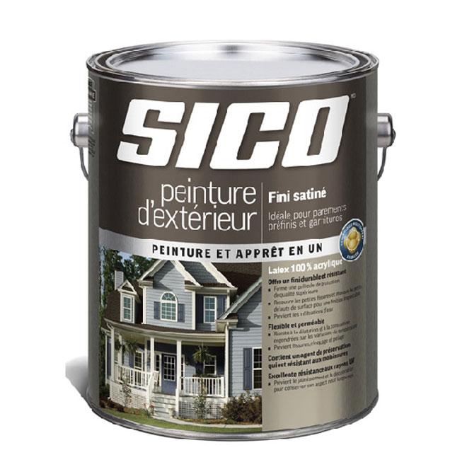 Peinture et apprêt au latex Sico, base moyenne, 3,78 l