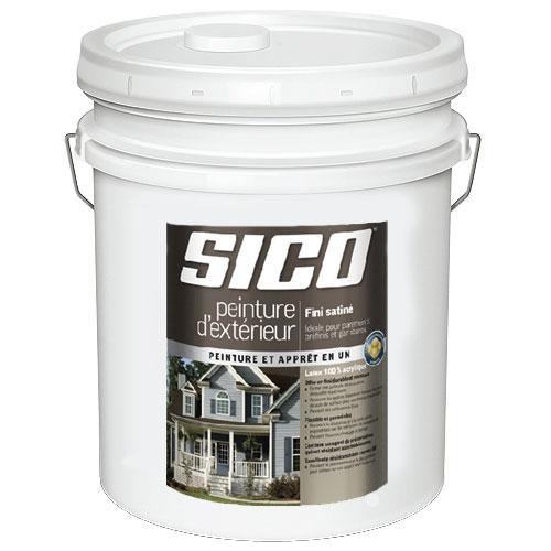 Peinture et apprêt d'extérieur pour bois Sico, satiné, base moyenne, opaque, 18,9 L
