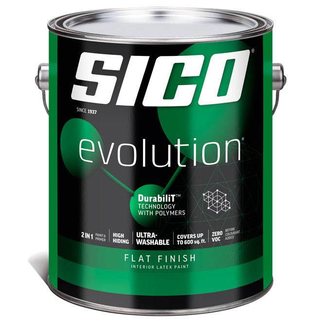 Sico Evolution Paint Base and Primer - Latex - Base 1 - 3.78 L - Flat