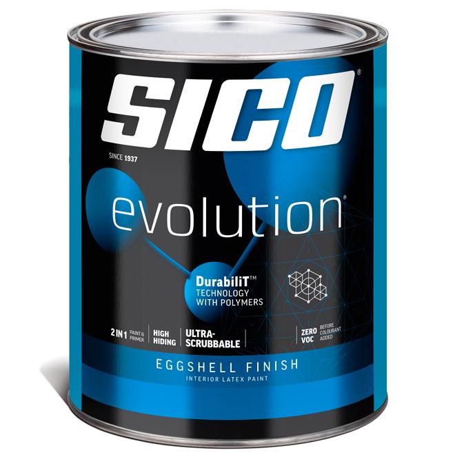 Sico Evolution Interior Paint and Primer - 946 ml - Eggshell - Pure White