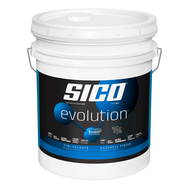 Sico Paint and Primer - Latex- 18.9 L - Pure White- Eggshell