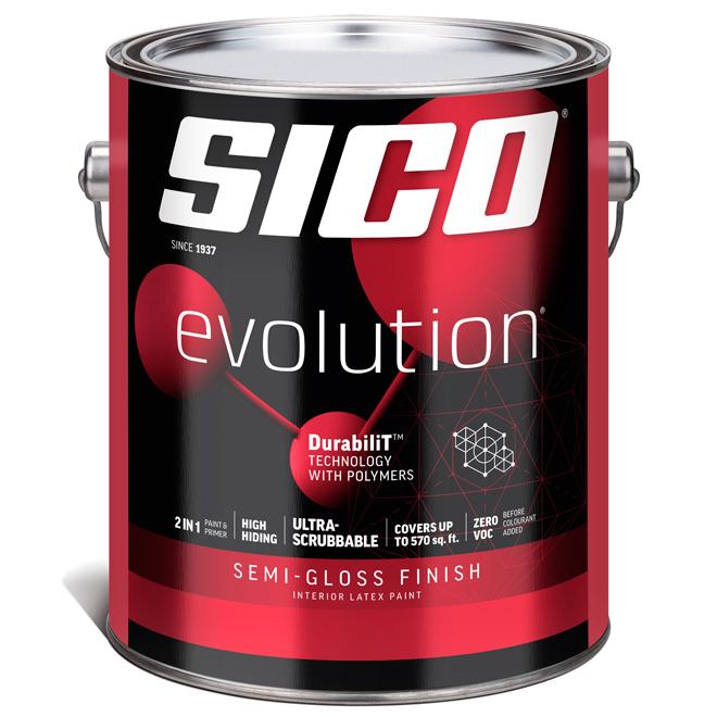 Sico Evolution Paint Base and Primer - Base 1 - 3.78 L - Semi-Gloss