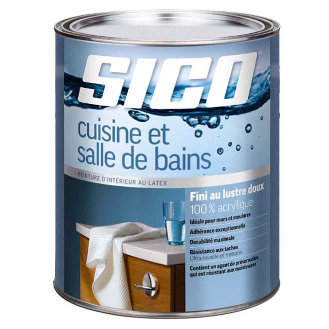 Sico Peinture Latex 100 Acrylique Pour Cuisine Et Salle De Bain 163