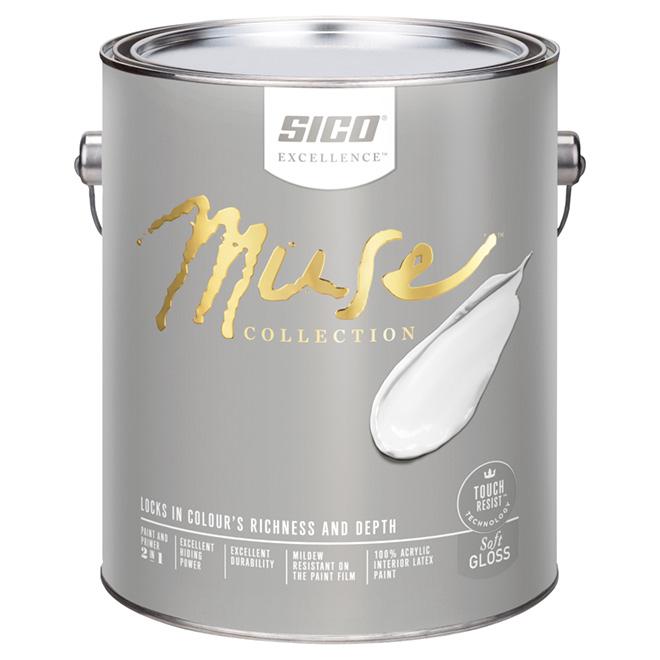 Sico Muse Interior Paint Base and Primer - Base 3 - 3.78 L - Soft Gloss