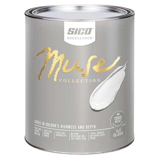 Interior Latex Paint and Primer - Soft Gloss - Base  1 - 946 ml