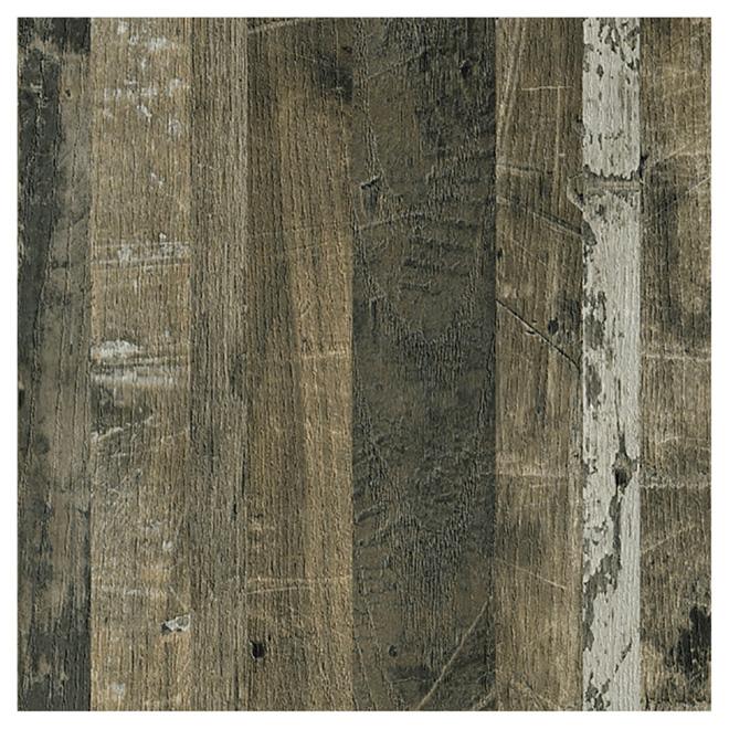 Panneau effet bois recyclé, 4' x 8', érable