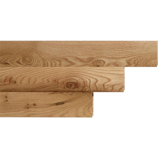 """Plancher de bois franc en chêne rouge, 3-1/4"""" x 3/4"""", naturel"""