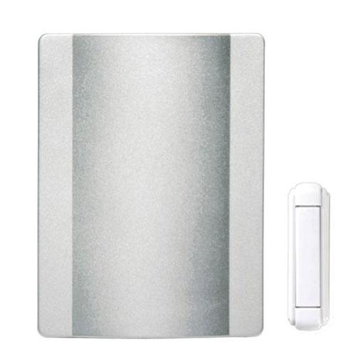 Heath Zenith Wireless Door Chime - Plastic - Satin NIckel