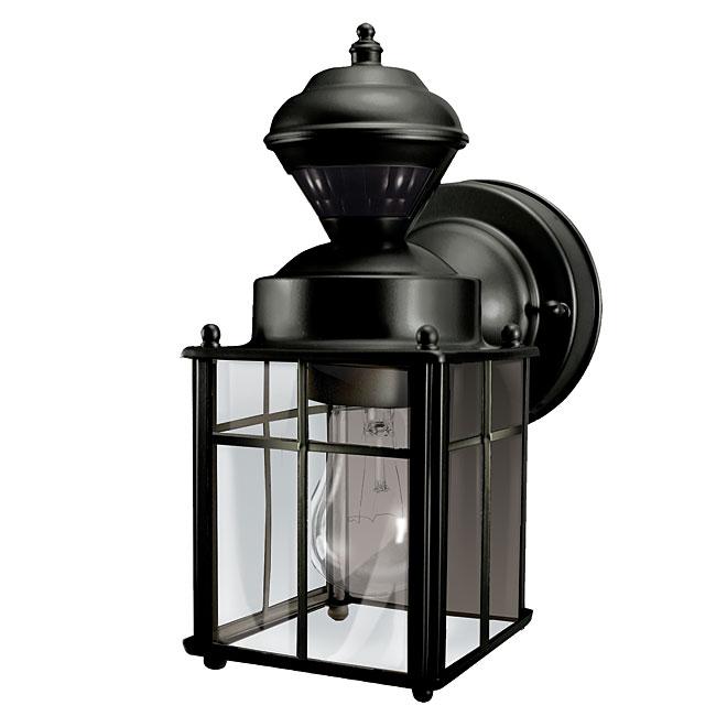 Lanterne murale avec détecteur de mouvement, noir