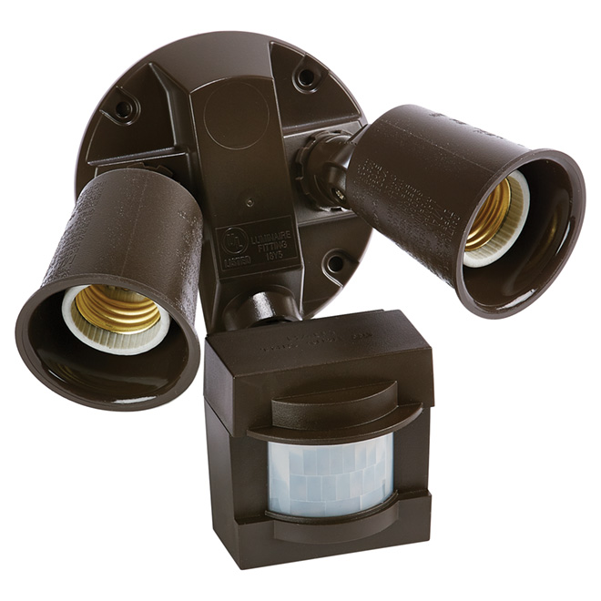 Lumière de sécurité halogène, détecteur de mouvement, bronze