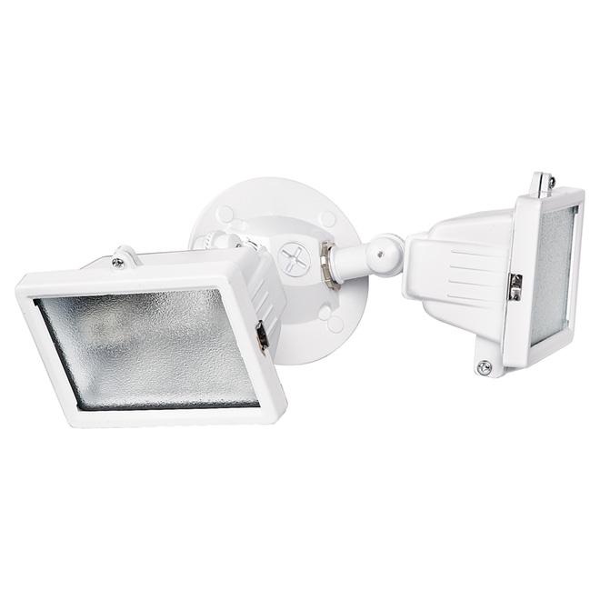 Lumière de sécurité murale double à halogène, blanche