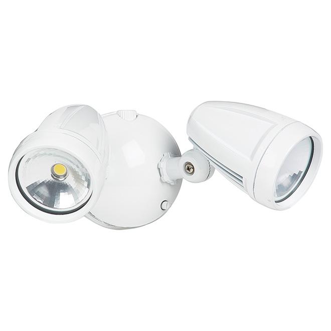 Lumière de sécurité double DEL sans détecteur, blanche
