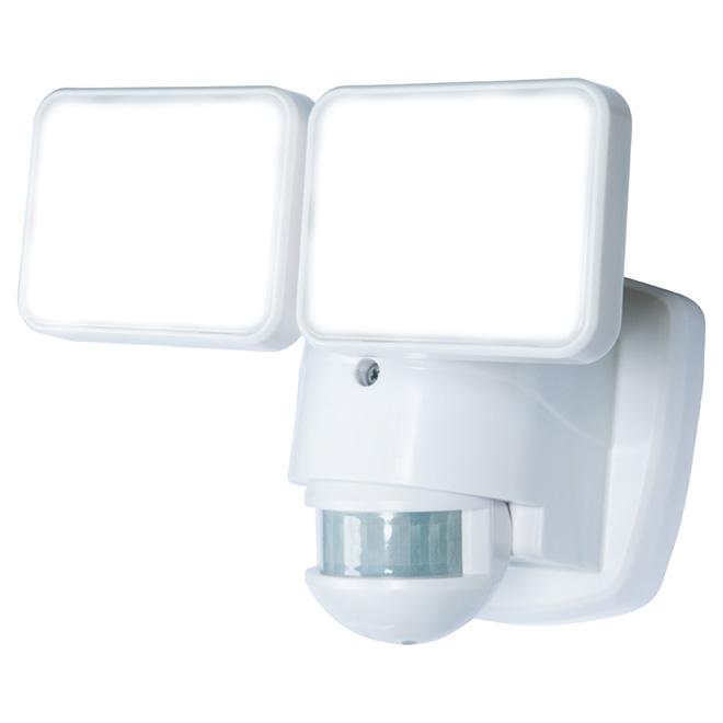 Lumière de sécurité, double DEL avec détecteur, blanc