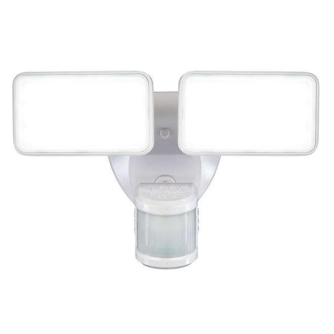 Lumière de sécurité Heath Zenith avec détection de mouvement, 2 lumières DEL, 180 degrés, 2000 lumens, blanc