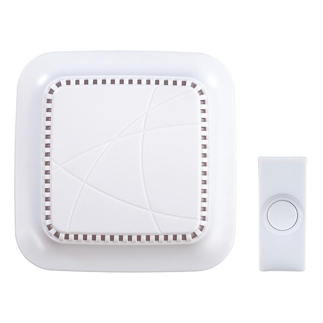Heath Zenith Wireless Doorbell - Plastic - White