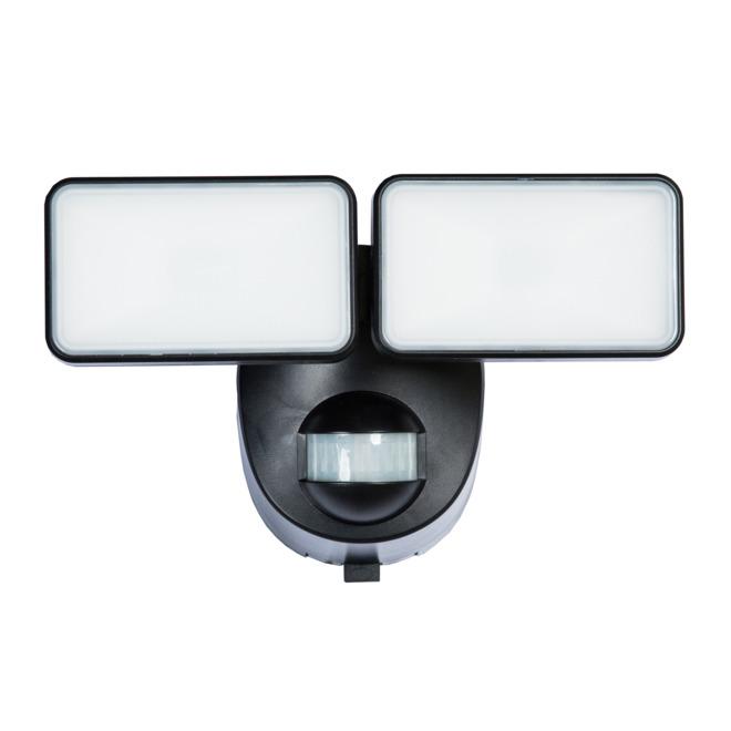 Lumière de sécurité Heath Zenith avec détection de mouvement, 2 lumières DEL, 180 degrés, 400 lumens, noir