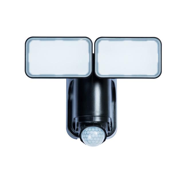 Lumière de sécurité Heath Zenith solaire à détection de mouvement, 2 lumières, noir