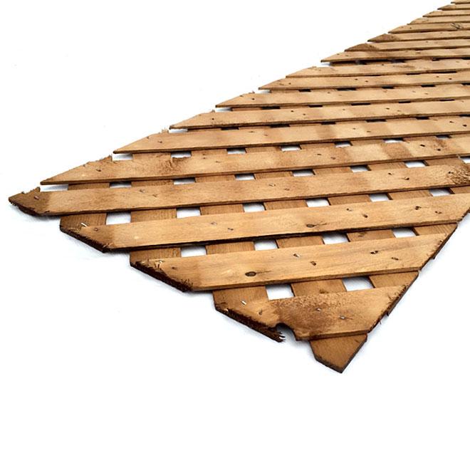 """Pressure Treated Wood Lattice - 12"""" x 8'"""