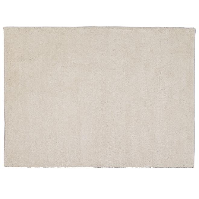 Tapis décoratif Shag Kipling, 5' x 7', ivoire
