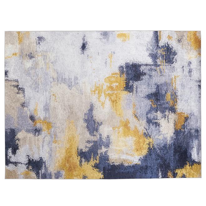"Tapis décoratif Melgund, beige/gris/jaune, 7' 11"" x 9' 10"""
