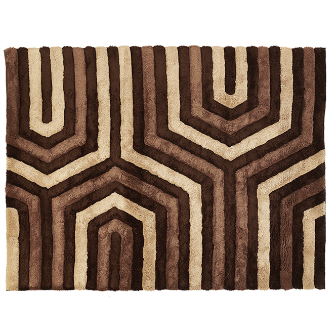 "Tapis décoratif Stone, brun, 6' 7"" x 8' 9"""