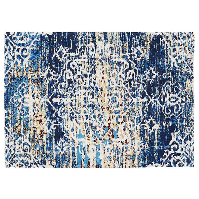 "Tapis décoratif Sherborne, bleu, 4' 11"" x 7'"