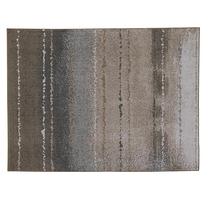 "Tapis décoratif Careston, gris/brun, 5' 3"" x 7'"