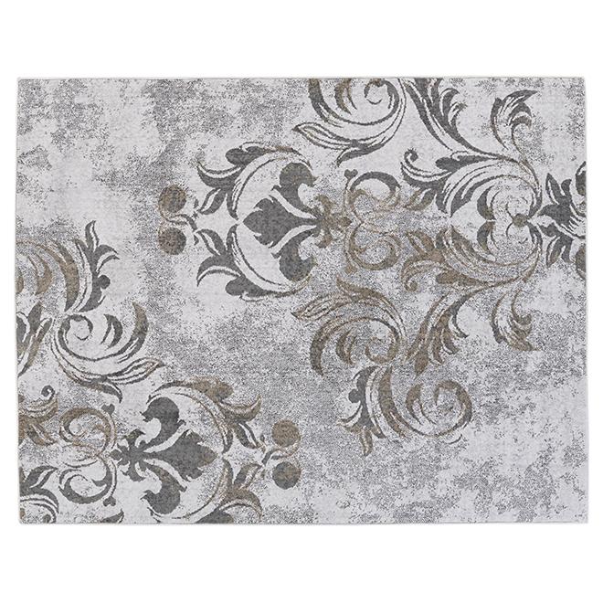 Tapis d'intérieur Hurst de Korhani, gris, 5 pi x 7 pi
