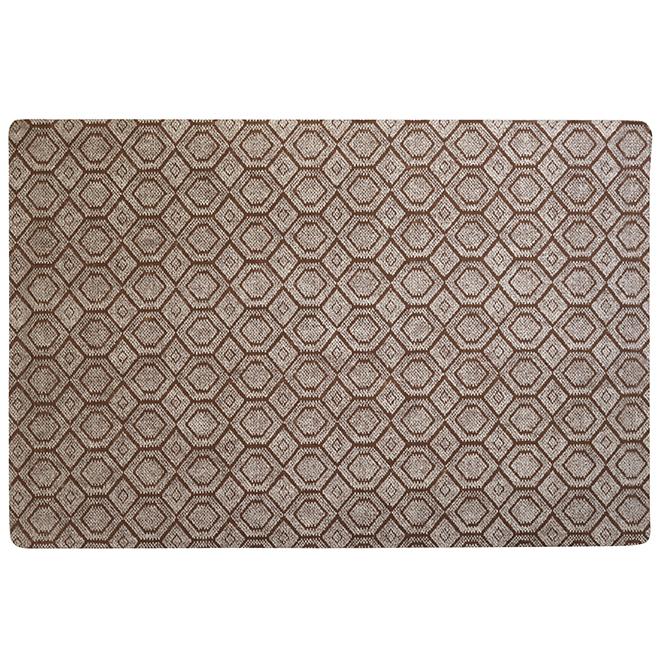 Tapis utilitaire rectangulaire en caoutchouc, 4' x 6', beige