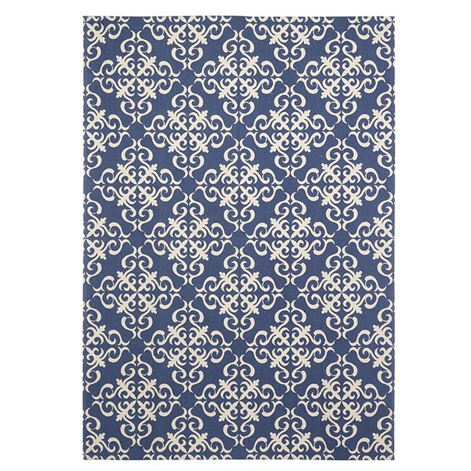 Cotton Mat - 140 cm x 200 cm - Blue/White