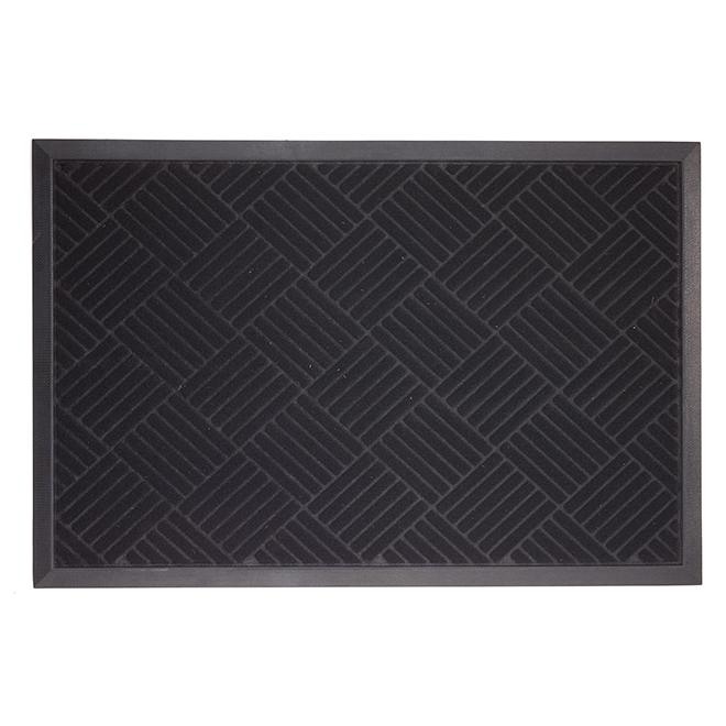 Aviator Door Mat - 2' x 3' - Polyester/Rubber - Black