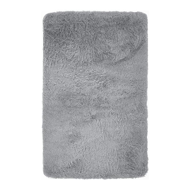 """Nunney Faux Fur Rug - 24"""" x 35"""" - Grey"""