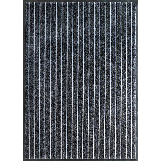 Studio - Indoor/outdoor Utility Rug - Bjorn - 4-ft x 6-ft - Black