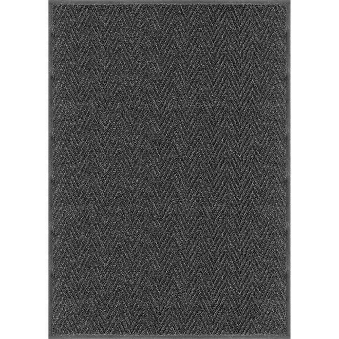 Studio - Indoor/Outdoor Utility Rug - Chevron - 2-ft x 3-ft - Black