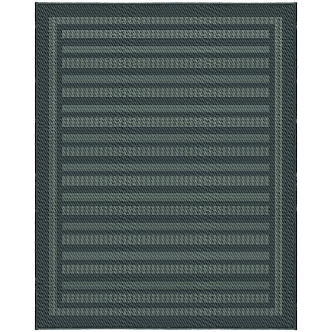 Tapis extérieur Leo de Korhani, 8 pi x 10 pi, polypropylène, charbon