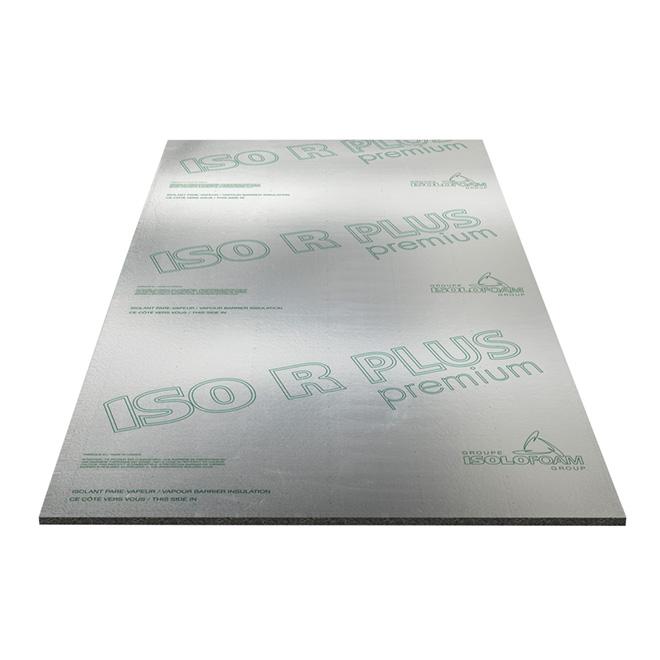 "Isolant rigide pare-vapeur ISO R PLUS, 1"" x 4' x 97 1/4"""