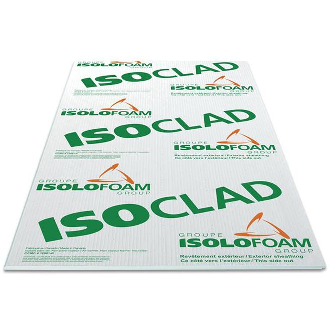 Panneau isolant ISOCLAD SL4, Isolofoam, EPS, 1 po x 4 pi x 9 pi, vert