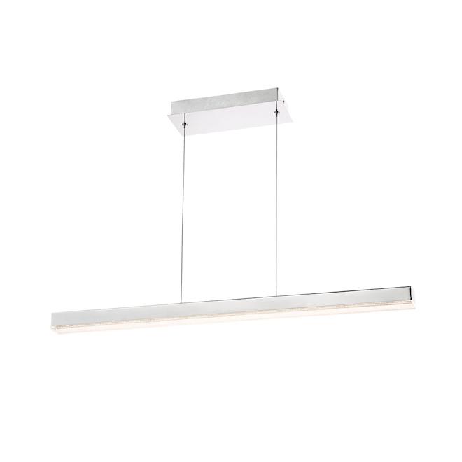 Luminaire suspendu, 36'' x 2'' x 2'', DEL, chrome
