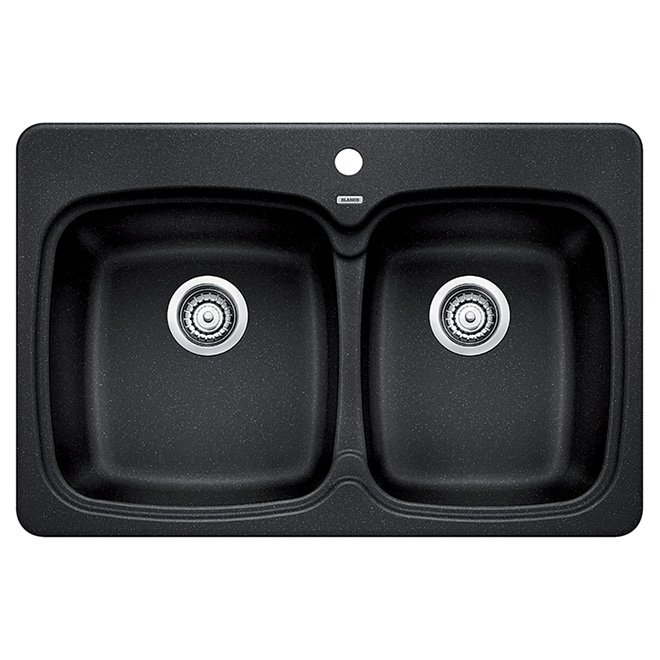 "Blanco - ""Vienna 210"" Double Kitchen Sink - Charcoal"