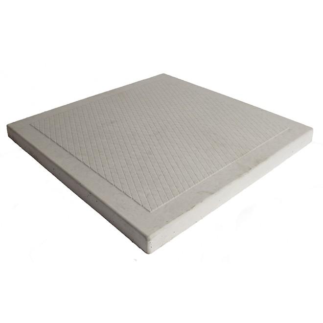 Dalle de béton Patio Drummond, forme de losanges, grise, 24 po L. x 24 po l. x 1 5/8 po h.