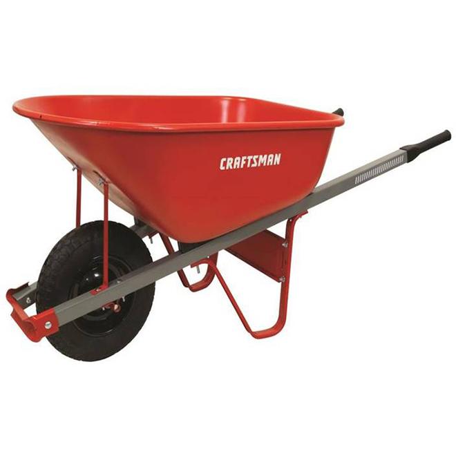 Craftsman(R) Wheelbarrow - 6 cu.ft - Steel - Red