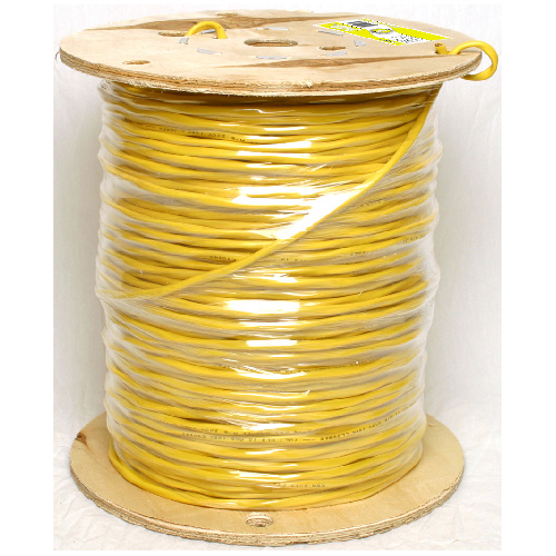 Fil de haut-parleur en cuivre/PVC, 300 m, calibre 14, jaune