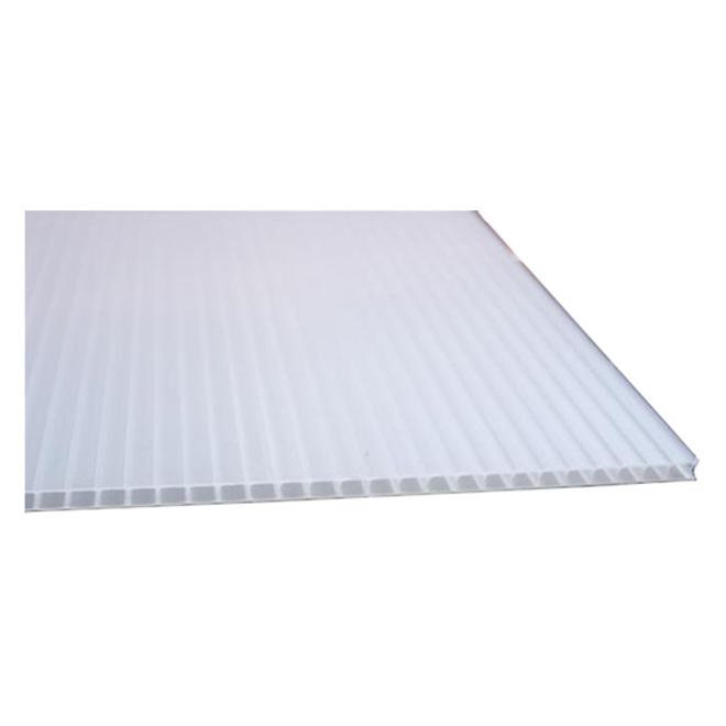 Feuille ondulée Hi-Core EM Plastic, 24'' x 48'', 4 mm, blanc