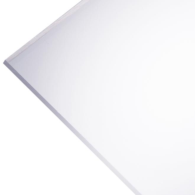"""Panneau en acrylique Optix 2,5 mm, 24"""" x 36"""", clair"""