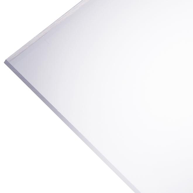 """Panneau en acrylique Optix 2,5 mm, 30"""" x 60"""", clair"""