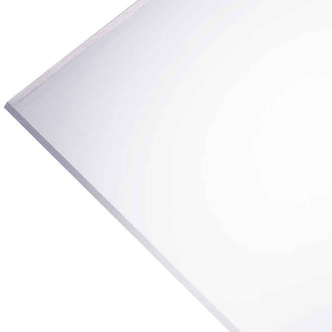 """Panneau en acrylique Optix 2,5 mm, 36"""" x 72"""", clair"""