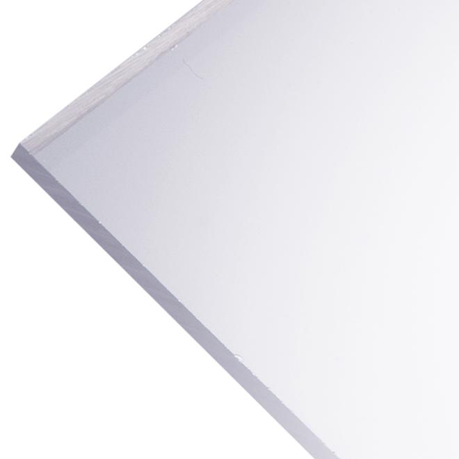 """Panneau en acrylique Optix 4,5 mm, 32"""" x 44"""", clair"""
