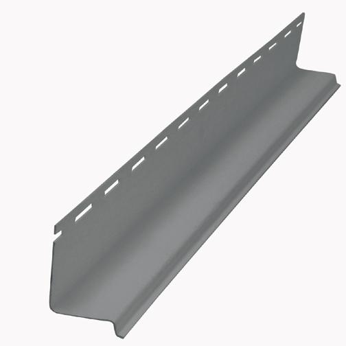 Moulure d'égouttement en vinyle, gris pierre